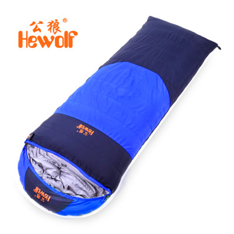 Hewolf Outdoor Sleeping Bags Autumn and Winter Thickening Keep Warm Envelope Thermal Duck Down Sleeping Bags 400-1500g filling
