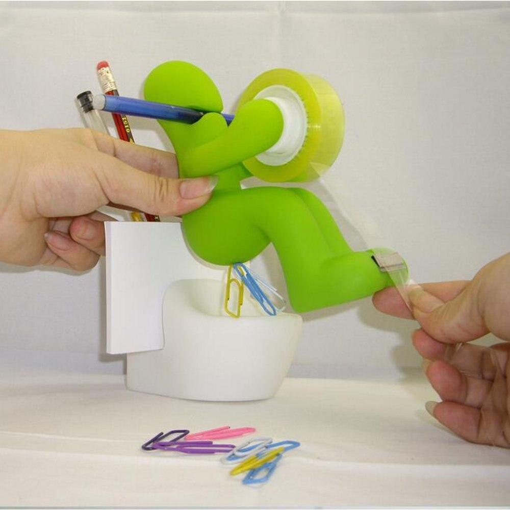Green Funny Butt Tape Dispenser Multi-Function Desktop Tidy Holder Storage Office Supply Station for Office or Home