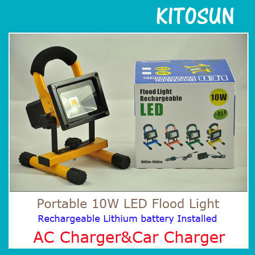 NEW!!! Rechargeable lithium battery operated 10W rechargeable emergency light