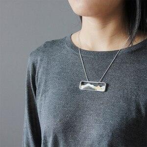 Image 5 - Colgante Lotus Fun concha de mar Natural hecho a mano, joyería fina, diseño de montaña con múltiples puntas, sin collar