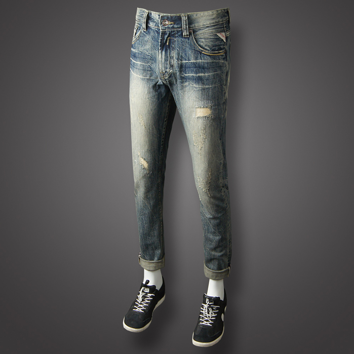 2018 Newly Fashion Mens Jeans High Quality Casual Pants Vintage Retro Designer Slim Fit Ripped Jeans Brand Classical Jeans Men