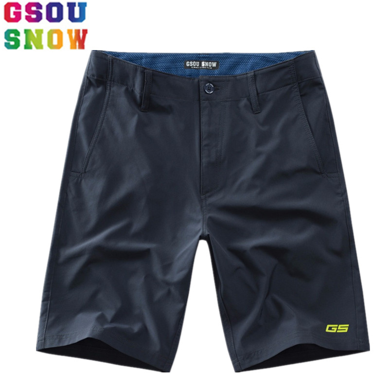 GSOU SNOW Brand Beach Board Shorts Men Bermuda Surf Swimming Surfing Boardshorts Mens Swimwear 2018 Summer Sea Sports Quick Dry