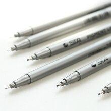 6 шт./лот Manga рисунок пигмент Liner Pen нескольких шариковая эскиз искусство фломастеров записки канцелярские школьные принадлежности EB124