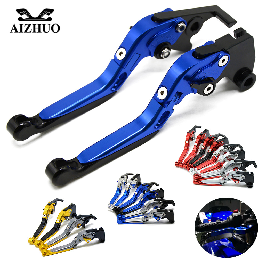 Universal Adjustable Motorcycle Accessories Folding Extendable Brake Clutch Levers For YAMAHA YZF R1/R1M 2015-2016