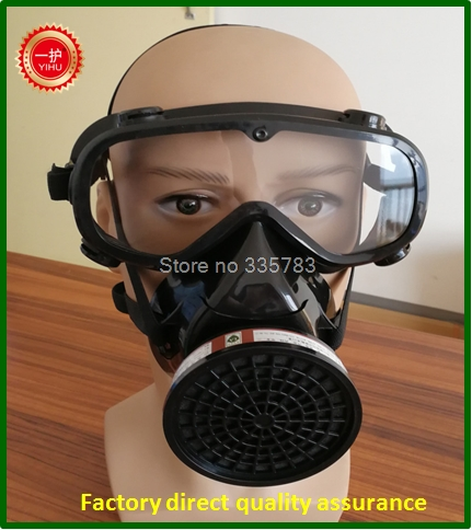 high quality respirator gas mask YIHU Single cans Windproof Anti-fog Goggles full face respirators gas mask jaisati gas mask tactical skull resin full face fog gas masks for cs wargame airsoft paintball face protective halloween mask