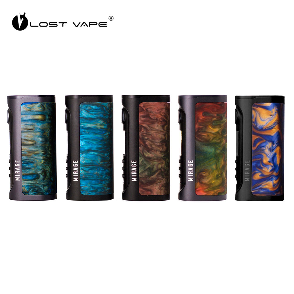 New Lost Vape Mirage DNA75C TC Box Mod electronic cigarette mod with advanced DNA 75C chipset & 1A charging current no battery