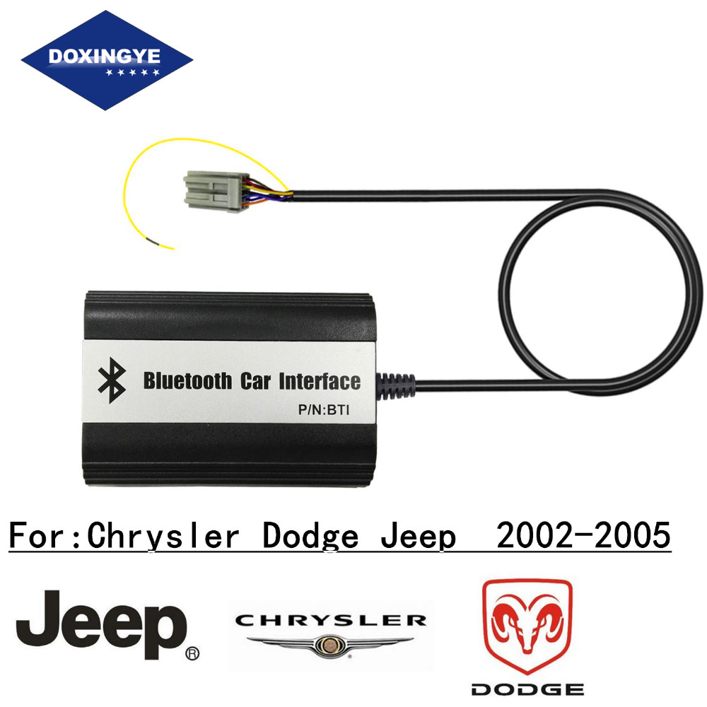 imágenes para DOXINGYE, Wireless Bluetooth Car Kit Manos Libres de Música MP3 Adaptador del Cambiador de CD USB AUX USB de Carga Para Chrysler Dodge Jeep 2002-2005