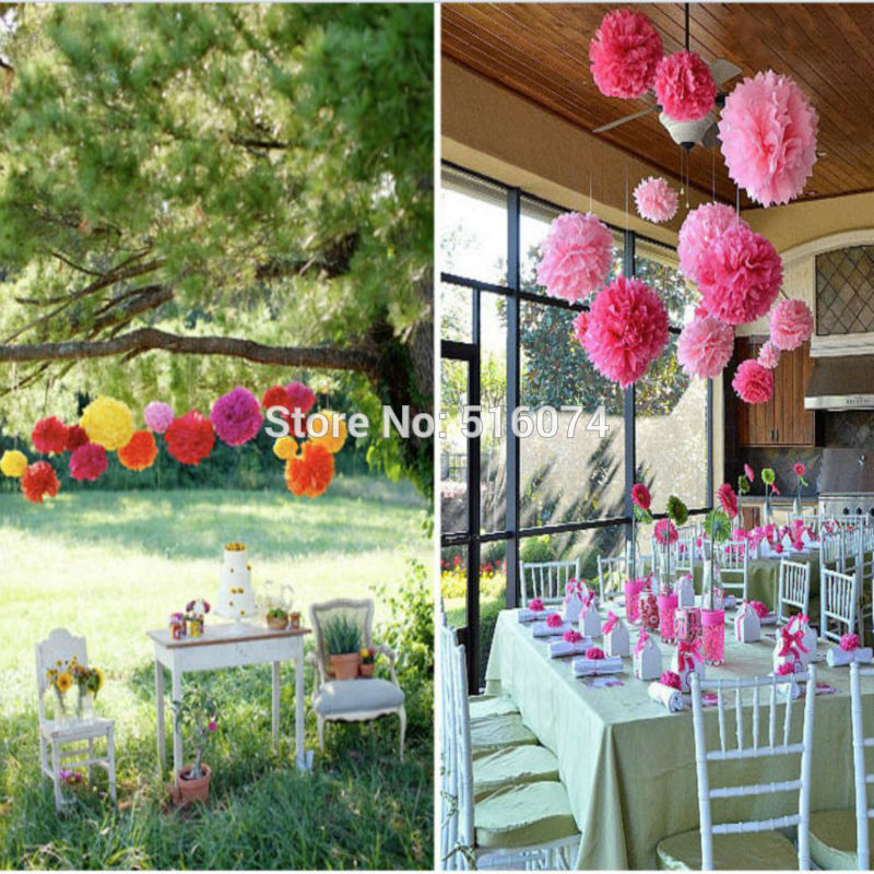 Aliexpress buy hot sale 2017 fashion christmas pom poms 50pcs aliexpress buy hot sale 2017 fashion christmas pom poms 50pcs paper flower ball wedding party background decoration 615cm 17 colors from reliable mightylinksfo
