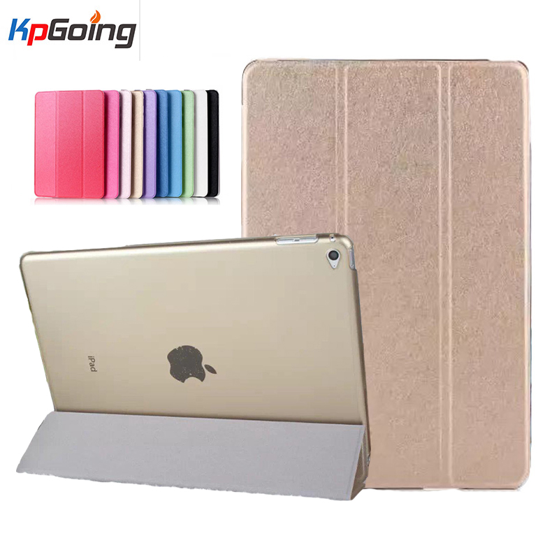 Silk Grain Pattern Case for Ipad Air 2 Pu Leather Cover Soft Transparent Back Case for Ipad Air 2 Fundas for Ipad Air2