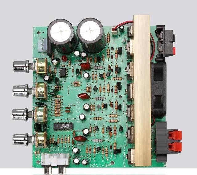 100W X2 כוח אודיו מגבר לוח 2.1 ערוץ גבוהה כוח 120w סאב בס מגבר לוח RCA עבור רמקול תיאטרון