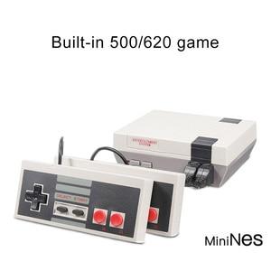 Image 4 - Gry wideo 620 klasycznych gier Port AV Retro mini telewizor ręczny wypoczynku rodzinnego konsola do gier wideo US wtyczka podwójny Gamepad odtwarzacz