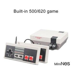 Image 4 - Video Game 620 Classic Games AV Port Retro Mini TV Handheld Family Recreation Video Game Console US Plug Dual Gamepad Player