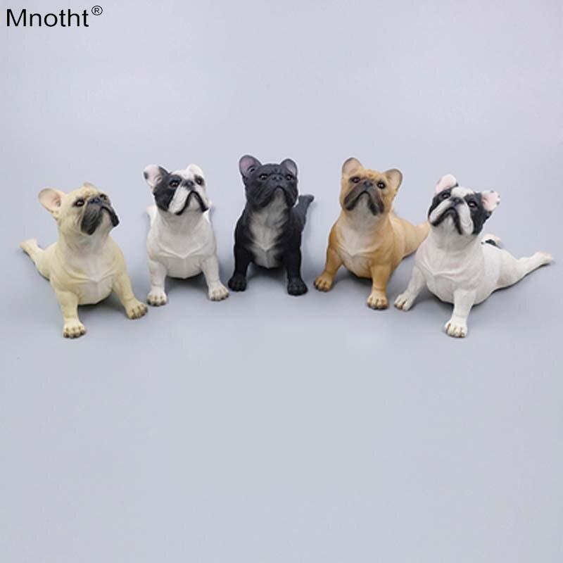 Mnotht 1/6 bouledogue français Face vers le haut position de Simulation chien modèle résine scène accessoire jouet pour Action Figure Collection