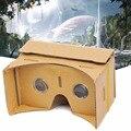 Headmount diy google cartón 3d vr realidad virtual gafas de video caja amarilla