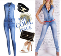 Women European Jeans Jumpsuits Fashion Casual Denim Long Pants Overalls Ladies Sexy Sleeveless Party Jumpsuits Rompers