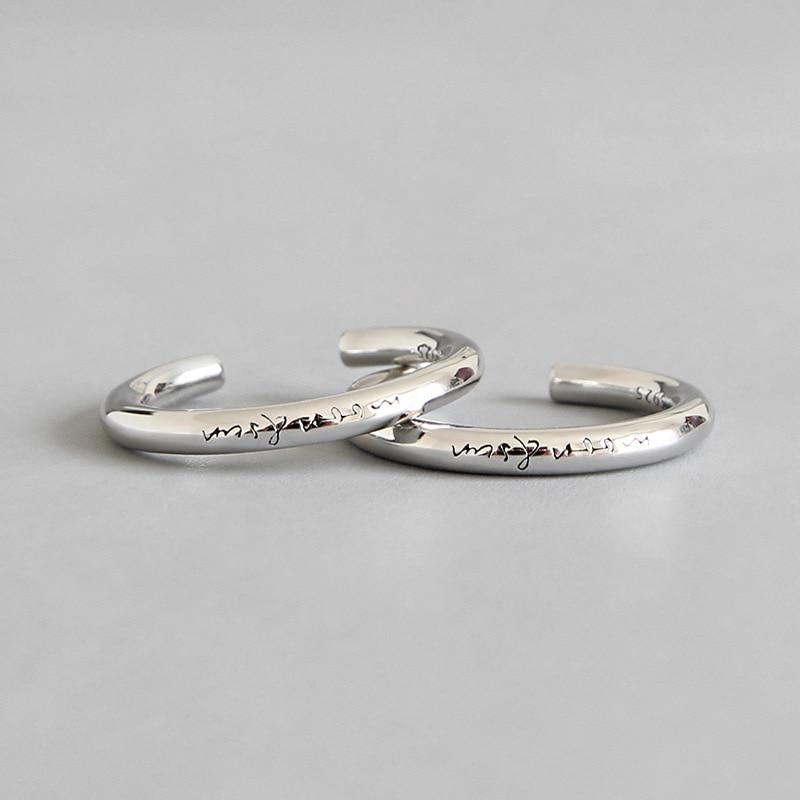 Шанис минималистский 925 серебро Луна и воскресенья, а также кольца с буквами для женщин ringen, простое обручальное кольцо для женщин серебро 925 ювелирные изделия Кольца      АлиЭкспресс