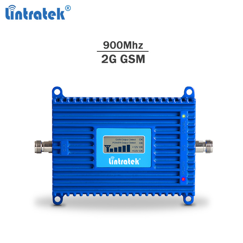 Lintratek 70dB AGC GSM Repeater 900Mhz Signal Booster GSM Repeater 2G 900 Ampli Mobile Phone Signal Booster 20dBm Voice Signal