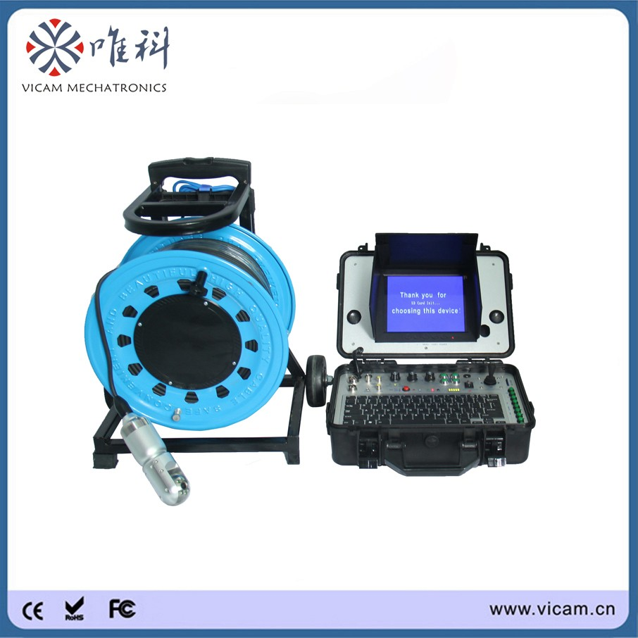 100M soft cable pan tilt water well inspection camera with multi ...