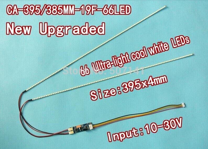5PCS/LOT 19'' 395mm Adjustable Brightness Led Backlight Strip Kit,Update 19inch LCD Ccfl Panel To LED Backlight