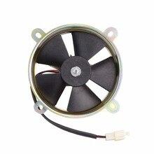 GOOFIT радиатор вентилятор охлаждения для 12 в Vertial двигатель с водяным охлаждением мотоциклы F038-025