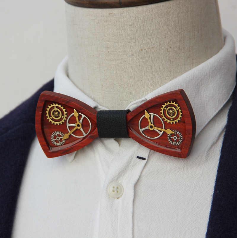 Originale disegno a mano punk a vapore bow tie per gli uomini di personalità legame di arco di modo accessorio