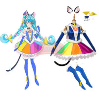 Cosplaylegend Anime Pretty Cure,Precure STAR TWINKLE Cure Cosmo Mao Cosplay costume adult costume custom made full set dress