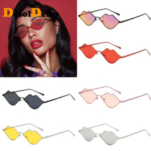Small Lips Shape Sunglasses Women Brand Designer 2019 New Sexy Mouth Sun Glasses Red Herat Shades UV400