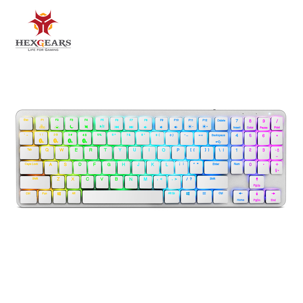 HEXGEARS X1 Bluetooth Keyboard RGB Backlight PBT Keycap Kailh CHOC Switch Keyboard Wireless Portable Mechanical Keyboard