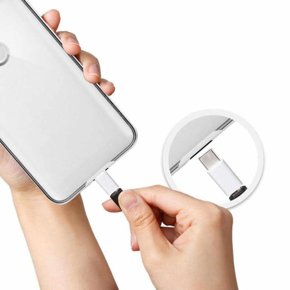Adaptador de 5 Paquetes Tipo c a Micro USB para Cable Usb C tipo c para tipo C conector de cargador para Samsung Galaxy S8 S9 Plus