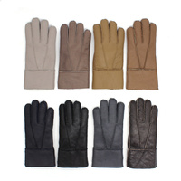 Harssidanzar Mens Classic Shearling Leather Gloves