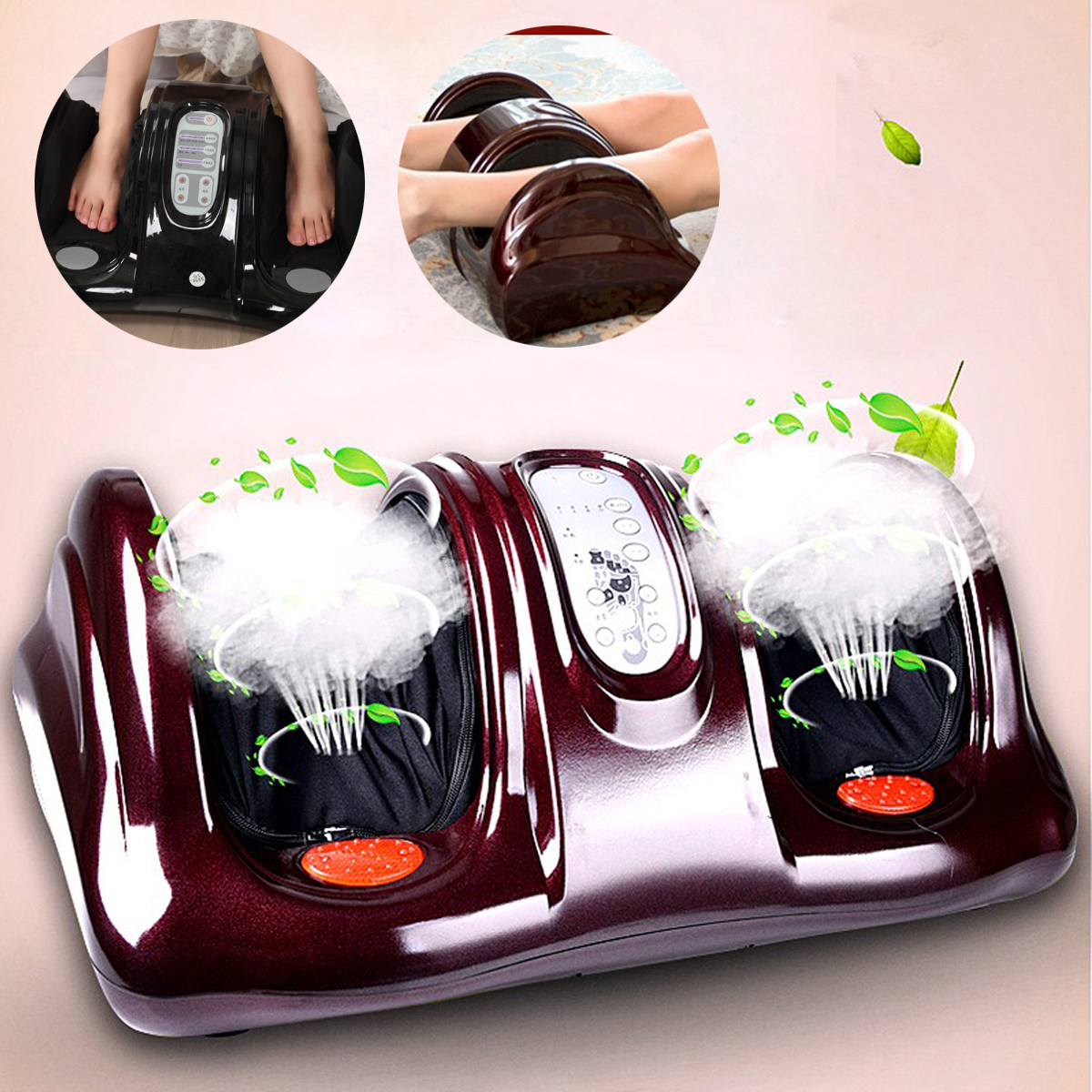 Heated Foot Ankle Calf Massager 3D Shiatsu Heating Kneading Rolling Reflexology Rolling Detachable Pads Convenient AutomaticHeated Foot Ankle Calf Massager 3D Shiatsu Heating Kneading Rolling Reflexology Rolling Detachable Pads Convenient Automatic