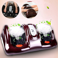 Heated Foot Ankle Calf Massager 3D Shiatsu Heating Kneading Rolling Reflexology Rolling Detachable Pads Convenient Automatic