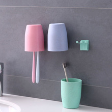 creative brush cup wash gargle toothbrush holder suit Rinse rack fittings