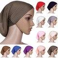 2015 Lindo!!! islâmico Muçulmano Hijab Underscarf Cabeça Lenço de Algodão das Mulheres Capa Bonnet 9FAO