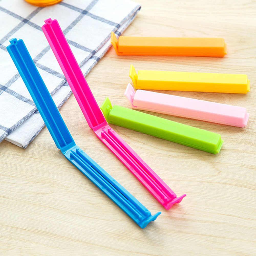10 個ランダムな色キッチン収納食品スナックシールシール袋クリップクランププラスチックツールポータブル新袋