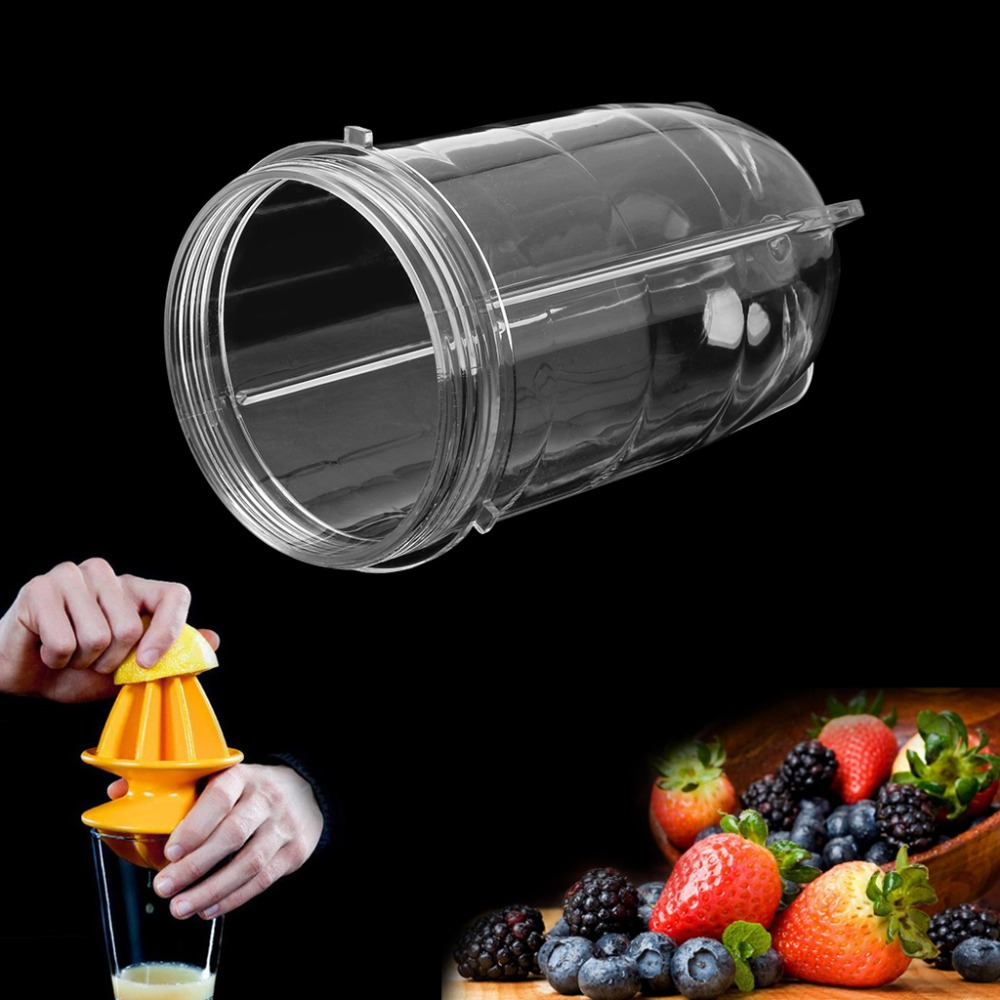 1PC 8*15CM Juicer Blenders Cup Mug Clear Replacement Parts With Ear For 250W Magic Bullet 8 replacement spare parts blender juicer parts 4 rubber gear 4 plastic gear base for magic bullet 250w 38