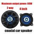 1 par de 4 pulgadas azul común de altavoces del automóvil coaxial para todos los vehículos de coches durable estéreo de altavoces de audio de 2 vías 2x80 W
