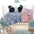 Baby crib bedding set 100% cotton baby bedding set gray clouds design including duvet cover flat sheet pillowcase