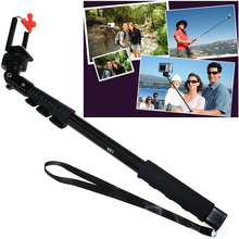 Big discount Bastone Extendable Camera Perche Pau De Palo Selfie Stick Telescopic Monopod Universal Self Button Go pro Monopad Telescopic