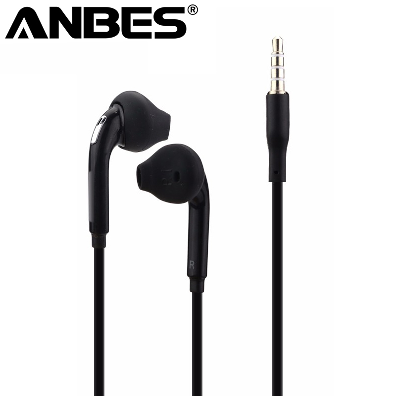 Wired Headset 3.5mm Portable Music Sport Running Stereo auriculares S6 Headphone with Microphone for Smartphones PC Laptop
