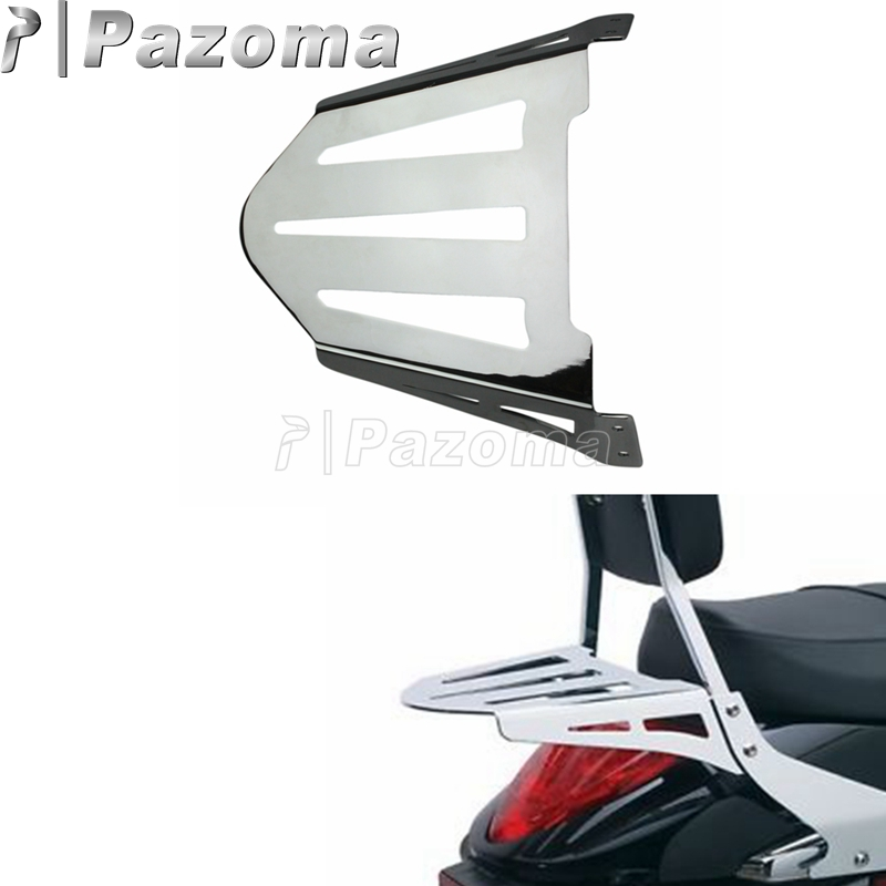 Motorcycles Chrome Rear Backrest Sissy Bar Luggage Rack for Suzuki Boulevard M109R M109RZ Limited M109R2
