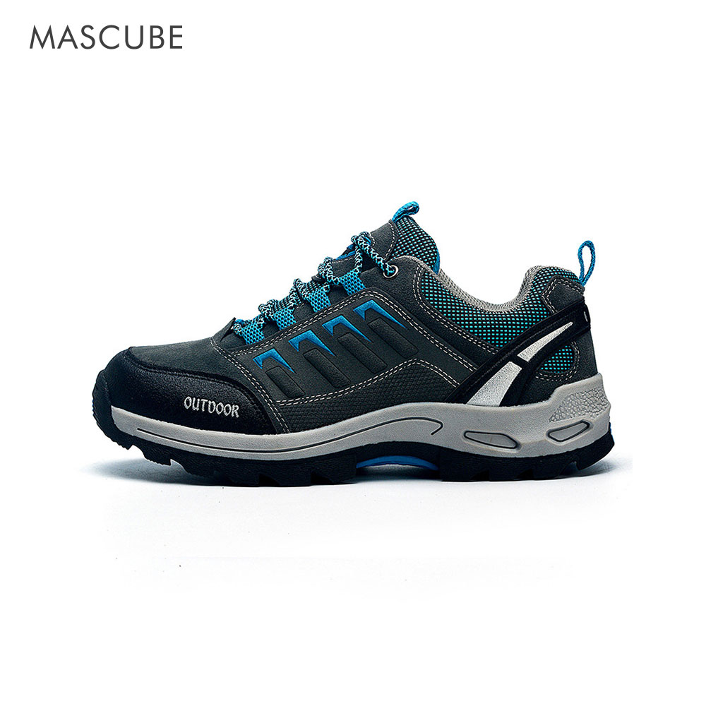 ФОТО 2017 Winter New Couple Outdoor Climbing Shoes Anti-Skid Gardening Suede Men And Women Outdoor Travel