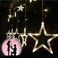 AC 220V Colorful Stars Outdoor Party Decoration Curtain Led String Lights Star Style For Christmas Parties