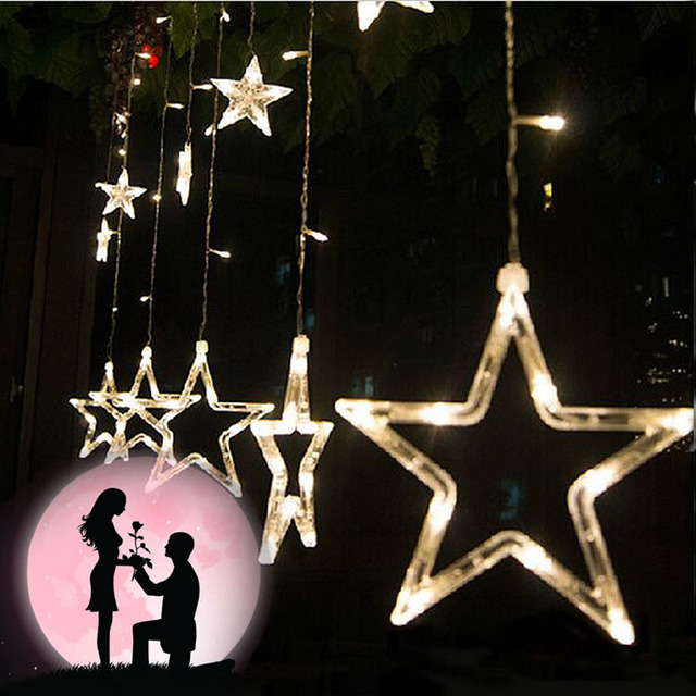 Ac 220v colorful stars outdoor party decoration curtain led string ac 220v colorful stars outdoor party decoration curtain led string lights star style for christmas workwithnaturefo