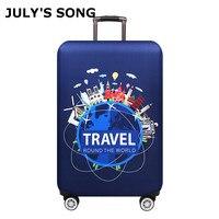 JULY'S SONG уплотненная Крышка для багажа 18-32 дюймов Чехол для чемоданов Дорожная сумка на колесах пылезащитный чехол для путешествий аксессуар...