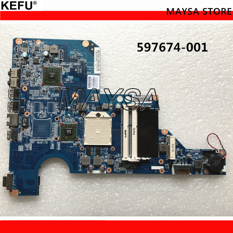 597674-001 for hp G62 CQ62 G62-A05SW G62-A15SW laptop motherboard 100% TESTED ok g62 cq62 laptop motherboard g62 cq62 592809 001 31ax2mb0010 da0ax2mb6f0 integrated 100% work promise quality fast ship