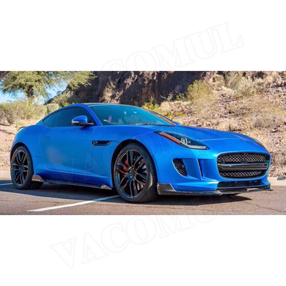Jupes Latérales en Fiber De carbone pour Jaguar F type Coupé 2 Portes 2015 2016 2017 2018 2019 2 pièces/ensemble Voiture style Extension de L'aire de Lèvre - 5