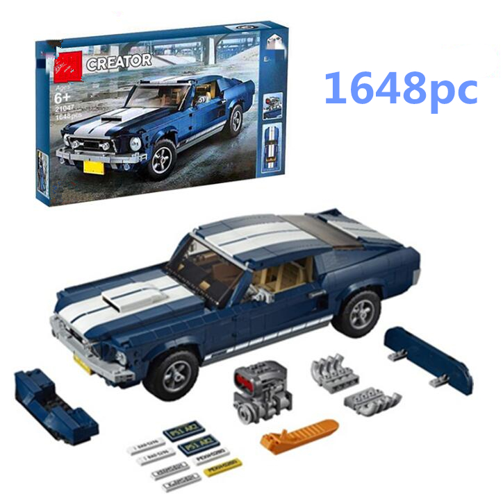 21047 Forded Mustanged Technic Series Race Car Building Assembled Blocks Bricks Enlighten Toylegoatechnic Hot