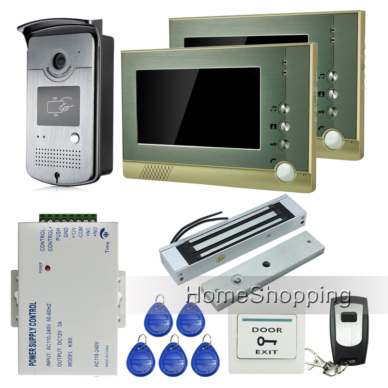 Free Shipping Home Doorphone 7 TFT Video font b Door b font Phone Intercom System 1
