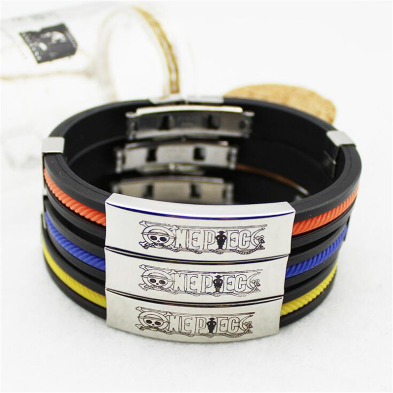 Anime One Piece Bracelet Cartoon Candy Color Luffy Chopper Cosplay Costumes Accessories Black Bracelet Fancy Bracelet Small Gift